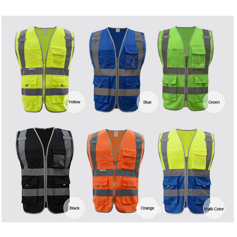 Hot Sale Reflective Vest High Visibility Roadway Workplace Safety Clothing Fluorescent Construction Work Uniforms Multi Pockets anime dragon ball z toy figure goku figures son goku pvc action figure chidren favorite gifts 15cm approx retail shipping