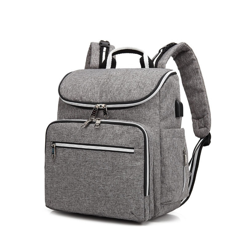 Usb Interface Mom Handbags European And American Style High Capacity Mummy Bag Multi Functional Diaper Bags Stroller Backpack In From Mother
