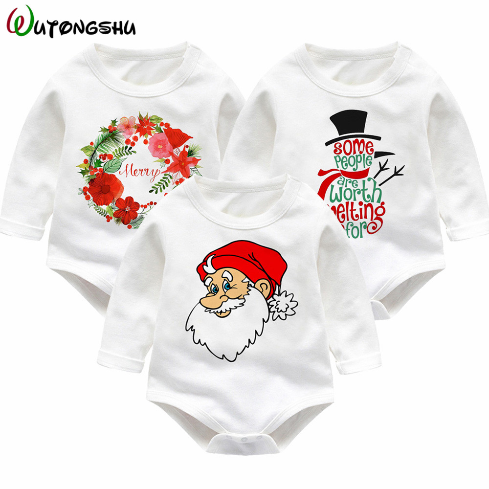 Christmas Newborn Baby Rompers Infant Boy Girl Clothes Long Sleeve Cotton Winter Babies Onsie Kids Costume Boys Girls Jumpsuit baby clothes 100% cotton boys girls newborn infant kids rompers winter autumn summer cute long sleeve baby clothing