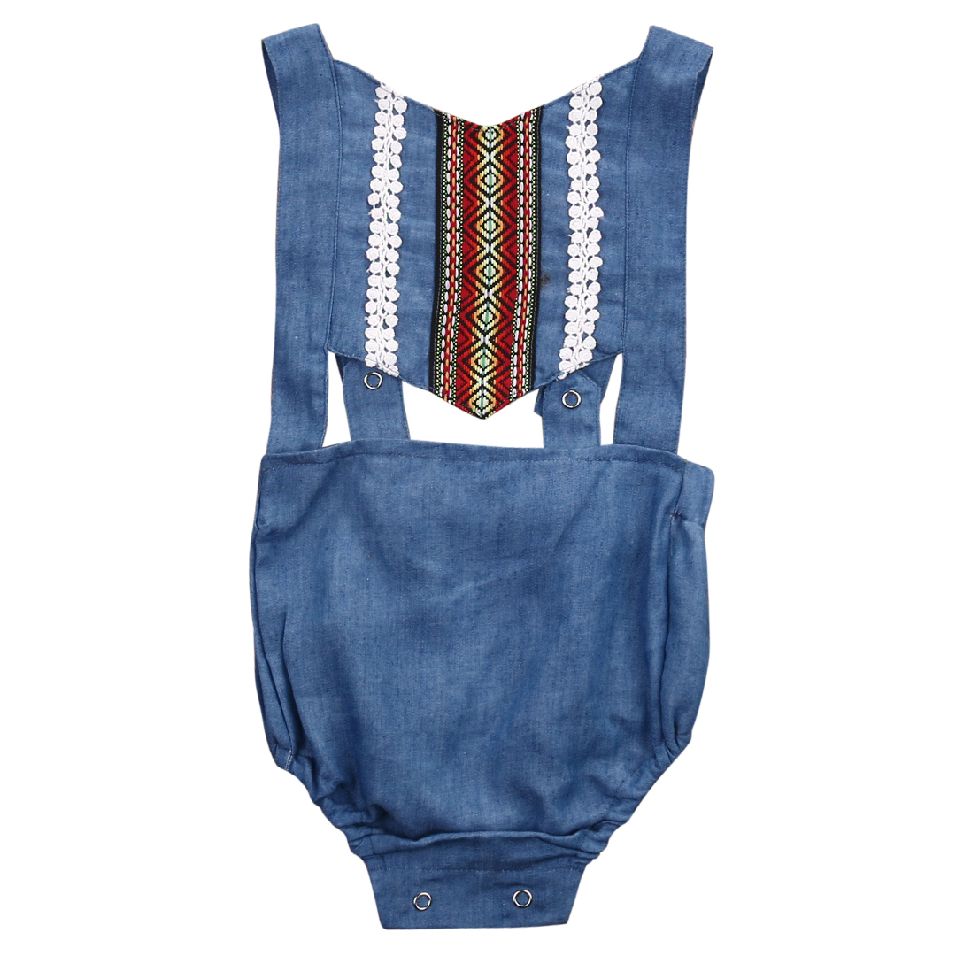 Cute Newborn Toddler Infant Baby Girl Sleeveless Denim Romper Jumpsuit Backless Outfit Sunsuit Clothes newborn infant baby girl clothes strap lace floral romper jumpsuit outfit summer cotton backless one pieces outfit baby onesie
