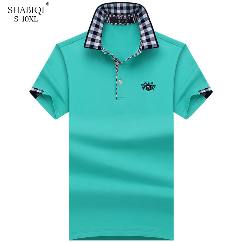 SHABIQI Plus Size S-10XL Brand New Men's   Polo   Shirt Men Cotton Short Sleeve shirt Brands Embroidery Lion Mens Shirts   polo   shirts