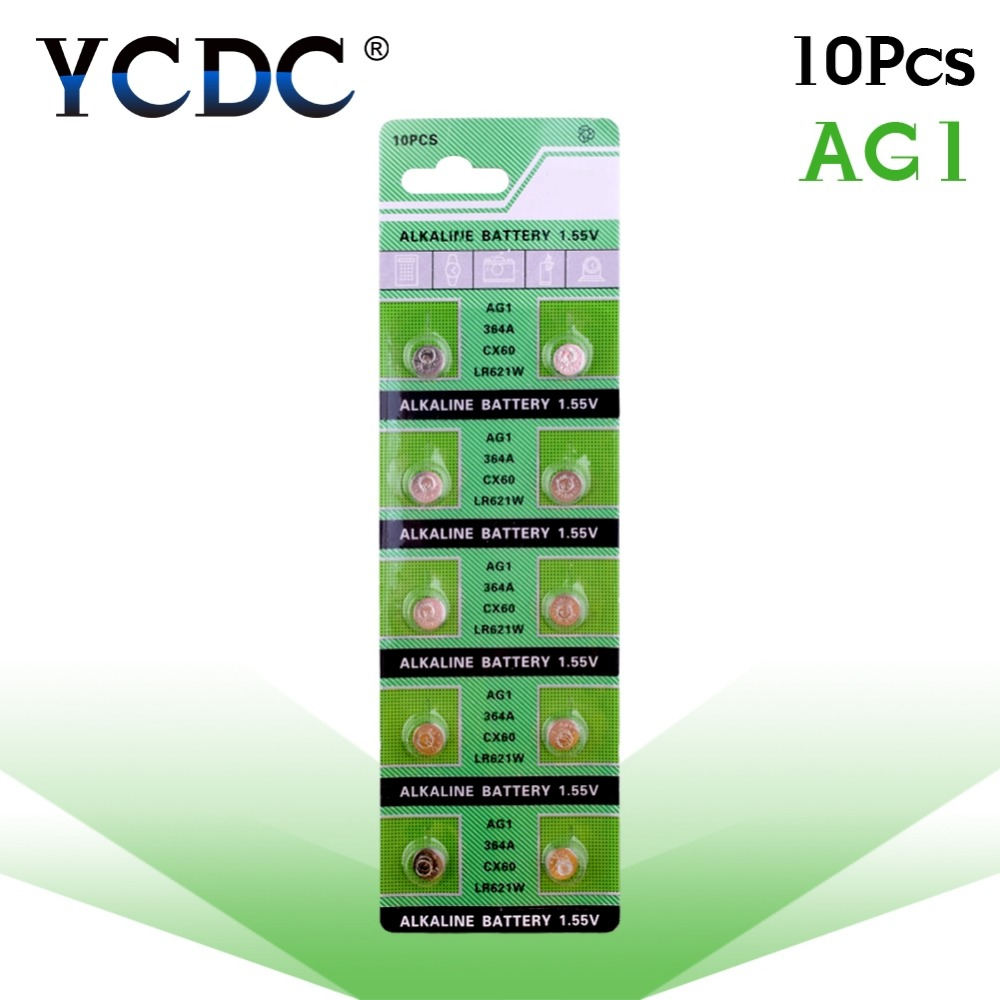Cheap Sale 100% Original Button Battery AG1 364 SR621 SR60 SR60L Alkaline Coin Cell Button Batteries For Watch X10 1.55V EE6202