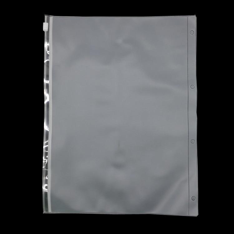 A4  B5 File Folder Bag Loose Leaf  PVC Zipper Pouch For Planner Padfolio Accessory Paper Organizer Zipper Bags