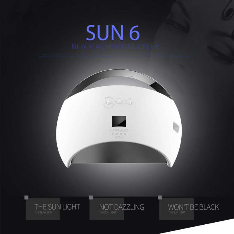Sunuv SUN6 48W Nail Machine UV Led Lamp manicure Nail Dryer Lamp for Nails Gel Polish Dryer Low Heat mode nail polish sunuv sun4 48w professional uv led nail dryer lamp gel polish nail dryer manicure tool for curing nail gel polish nail drill set