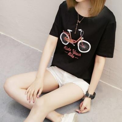 Harajuku Summer T Shirt Women New cartoon student Fashion T shirt Woman Tee Tops student Casual Female T shirts in T Shirts from Women 39 s Clothing