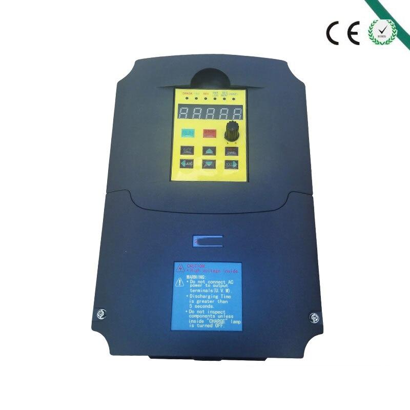 Для России CE 5.5kw 220v AC преобразователь частоты выход 3 фазы 400 Герц двигатель переменного тока контроллер водяного насоса ac привод инвертор