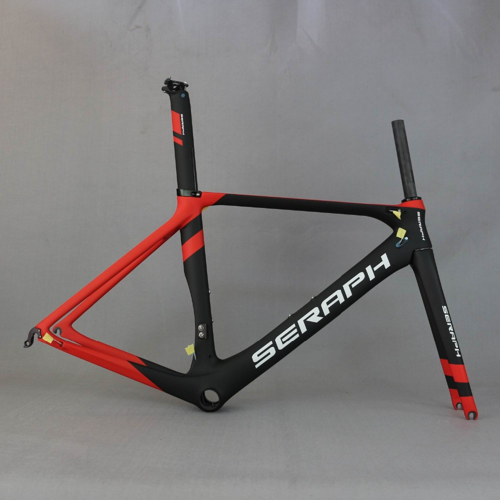 SERAPH New Carbon Road Bike Frame FM268 Bicycle Frame Set With Seatpost,Di2 Bicycle Frame