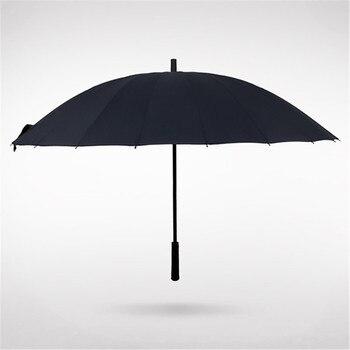 Big Umbrella Men 24 Ribs Automatic Open Golf Umbrella Male Commercial Compact Large Strong Windproof Parasol Regalo Hombre XX18