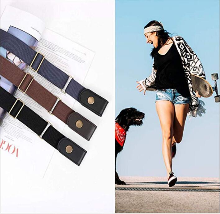 Buckle-Free Elastic   Belt   for Jean Pants Dresses No Buckle Stretch Waist   Belts   fit Women Men Boys Girls Drop No Hassle Waist   Belt
