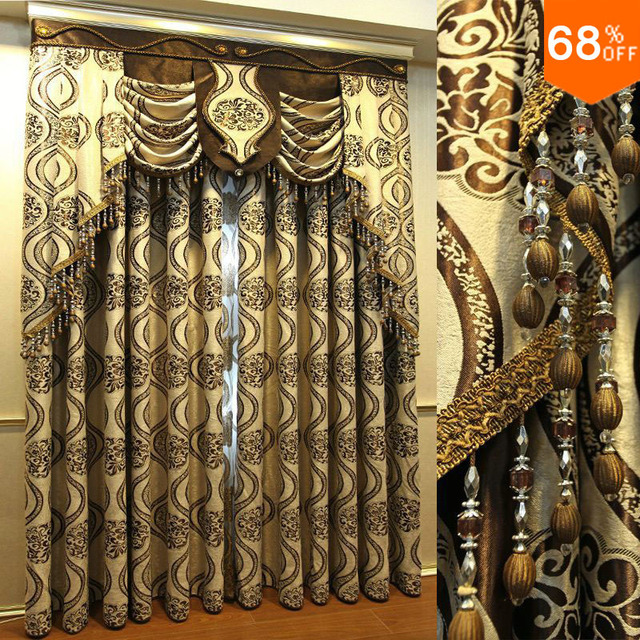 New Embroidery Flower luxury Quality burnt-out screens whole dodechedron curtain cloth decoration luxury modern fashion curtains