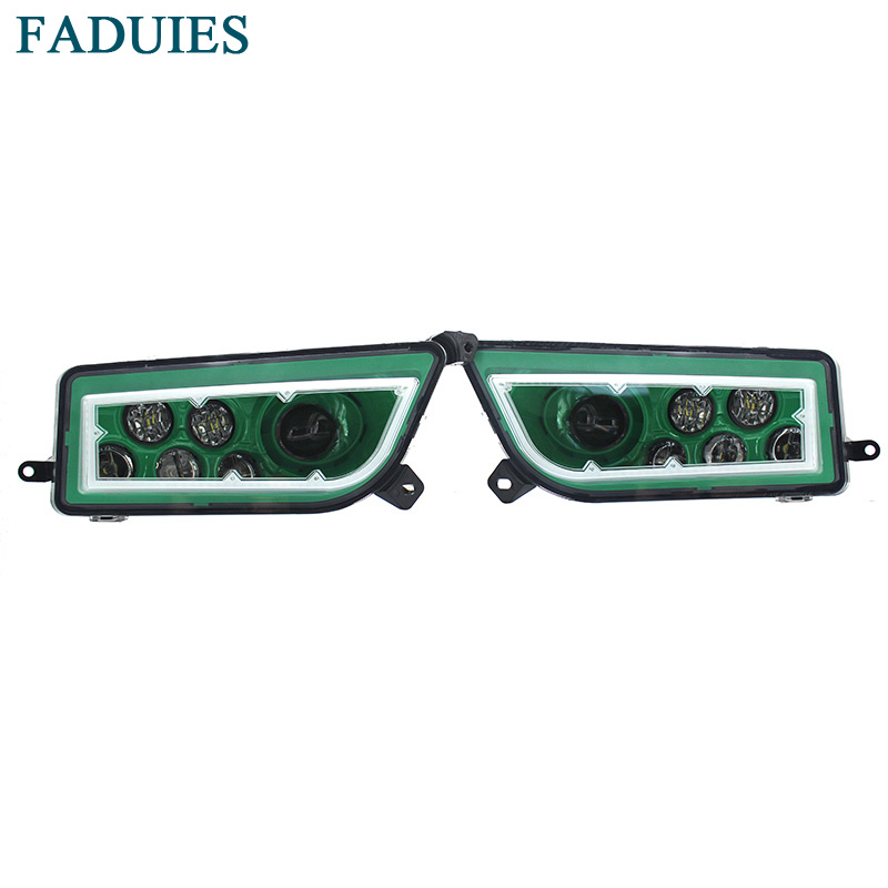 FADUIES ATV POLARIS Green LED HALO HEADLIGHTS KIT- Angel Eye For 2014-2017 POLARIS RZR 1000 XP / 2014-2016 RZR XP 4 1000 voltage regulator rectifier for polaris rzr xp 900 le efi 4013904 atv utv motorcycle styling