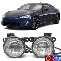 Для Toyota GT86 86 SCION FR s 2 в 1 LED Ангельские глазки DRL Габаритные огни линия объектив туман огни