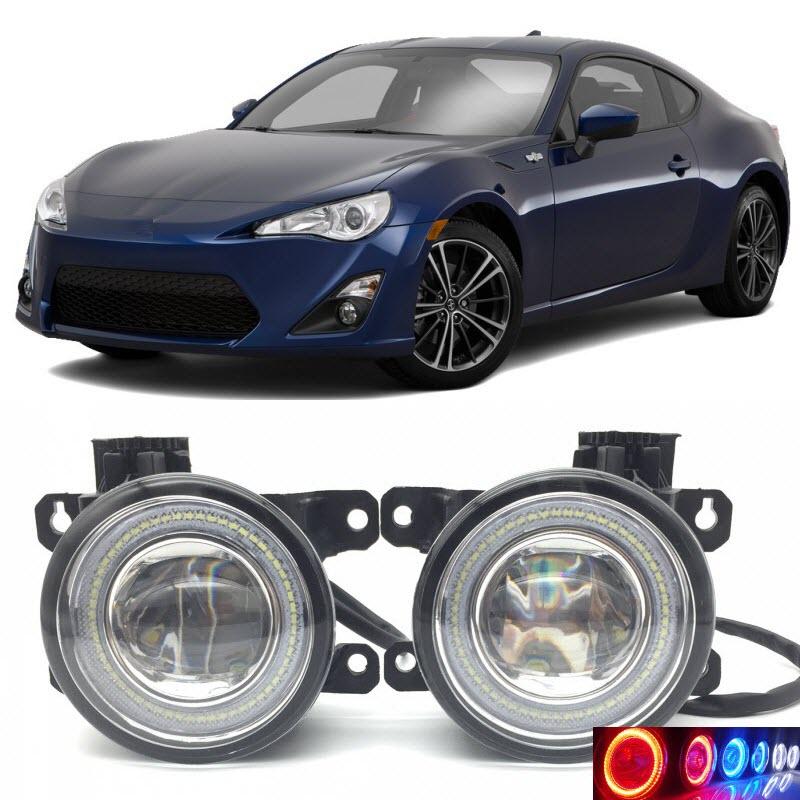 For Toyota GT86 86 Scion FR-S 2 in 1 LED Angel Eyes DRL Daytime Running Lights Cut-Line Lens Fog Lights