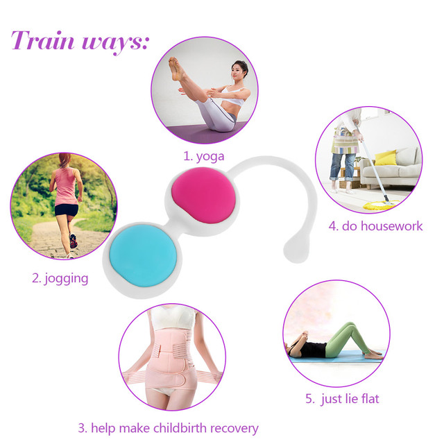 Vaginal Clever Ball Vagina Tight Exercise Trainer Female Vaginal Shrink Training  Kegel Ball Waterproof 4 Balls Bead Dumbbells 5
