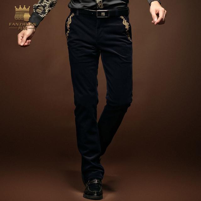 FanZhuan Envío Gratis Nuevos Hombres de la Moda otoño ropa masculina pantalones casuales pantalones rectos más tamaño pantalones sueltos 14844