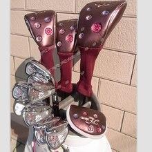 Новая женская Гольф-клюшки maruman Флорида Гольф полный комплект клубов драйвер+фарватер древесины+утюги+клюшки графит Гольф вал не тюки