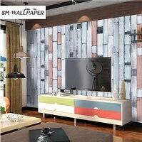 Decorazione della parete di 10 M Verde Moderno 3d Impermeabile Del PVC Del Vinile Spessore Rilievo Carta da Parati Soggiorno Rivestimento Murale Decorativo