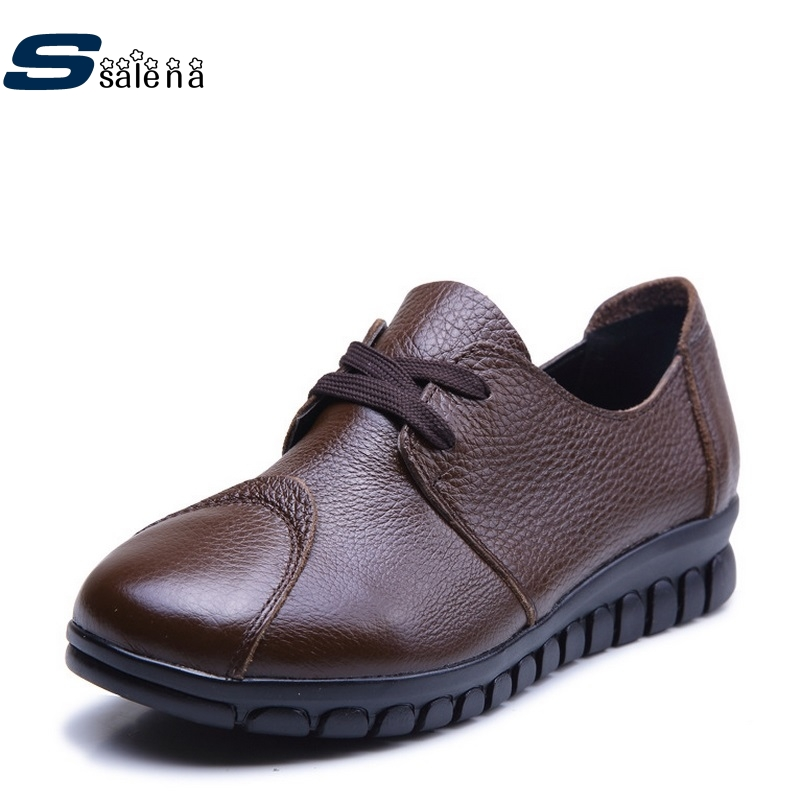 Genuine Leather Ballet Flats Women Soft Footwear Classic Female Designer Fashion Cool Shoes AA40028