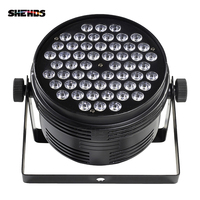 Fast Shipping Aluminum Alloy Black LED Par 54x4W Cool And Warm Con Power Plug DMX 512 Stage Effect Lighting For Disco DJ Party