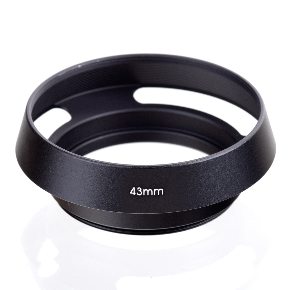 Free Shipping 43mm 43 mm Black Metal Vented Camera Lens Hood For Leica M 43mm Thread