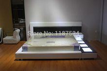 БОЛЬШОЙ мягкая кровать king size PU + ПВХ кожа мягкая кровать C356