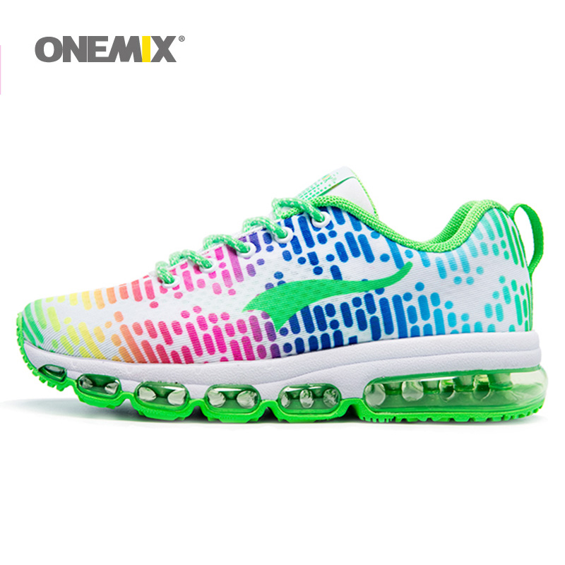 ONEMIX Woman Running Shoes Women Nice Tennis Athletic Trainers White Zapatillas Sports Shoe Max Cushion Outdoor Walking Sneakers 2018 max woman running shoes women trail nice trends athletic trainers white high sports boots cushion outdoor walking sneakers