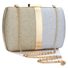 Evening Clutch Bag Women 2019 Gold Gillter Handbag Chain Shoulder Small Purse Elegant Wedding Party Bags
