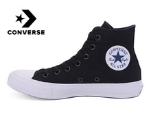 Converse Оригинальные кроссовки с надписью «All Star» обувь для мужчин и женщин унисекс; высокие полотняные кроссовки; цвет синий, черный; большие размеры Цвет Скейтбординг обувь 150143C