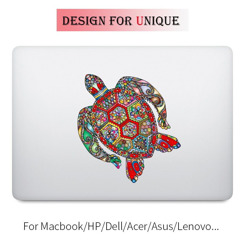 Gemstone Turtle Colorful Laptop Sticker for font b Apple b font font b Macbook b font