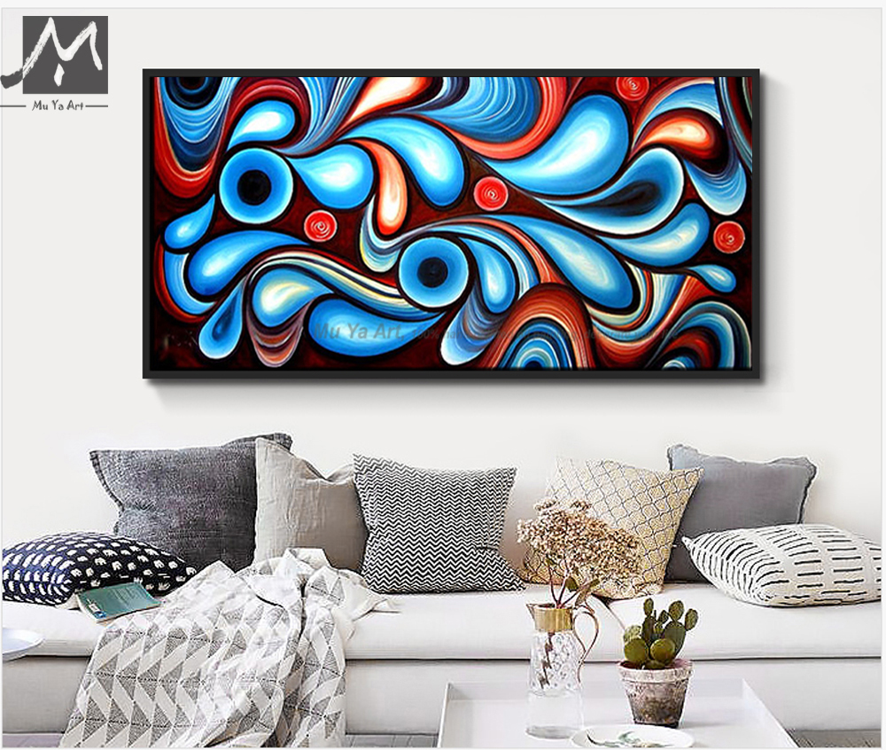 Buy large canvas wall art modern for Large colorful wall art