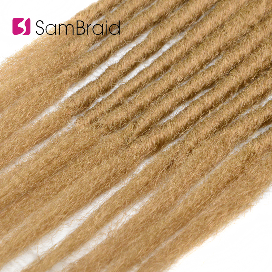 Sambraid 20inch/40g/pack Super Soft Feels Soft Kanekalon Synthetic Hair Dreadlocks Crochet Braid Hair Extensions For