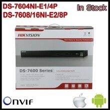 Hikvision POE NVR CCTV 16CH DS-7604NI-E1/4P, DS-7608N-E2/8P, DS-7616NI-E2/8P Network NVR 4CH with 8CH& 8POE HD 6MP for IP Camera