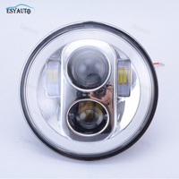 5 75 Inch Headlight White Color Angel Eye DRL Hi Lo Beam 5 3 4 Inch