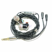 2019 SENFER 4in1 HIFI Earphones Hybrid Drive Unit DIY earphones knowles balanced armature with MMCX cable se215 se535 se846 IE80