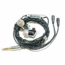 цена 2019 SENFER 4in1 HIFI Earphones Hybrid Drive Unit DIY earphones knowles balanced armature with MMCX cable se215 se535 se846 IE80 в интернет-магазинах