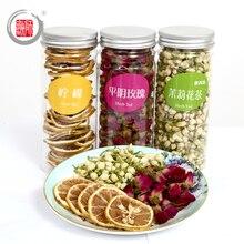 400g Three Kinds of  Flower Tea Including Tea Roses, Lemon Tea, Jasmine Tea Women Essential weight lose