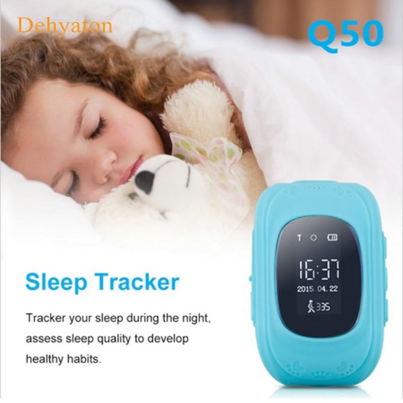 Dehyaton Q50 GPS Smart Kid უსაფრთხოა ჭკვიანი საათის საათისთვის SOS ზარის ადგილმდებარეობა Finder Locator Tracker for Child Anti Lost Monitor