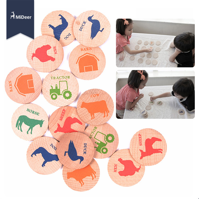 Wooden Puzzle Kids Memory Match Game Stacks Animals Buildings Numerals Vehicles Pattern Chess Sort Educational Toys