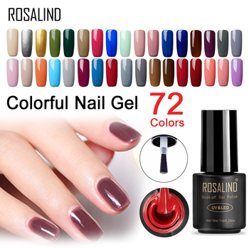 ROSALIND Hot Sale Pure Color Gel Nail Polish Nail Art  Design of Nails Hybrid Gel Lacquer Soak Off White Gel Varnish Manicure