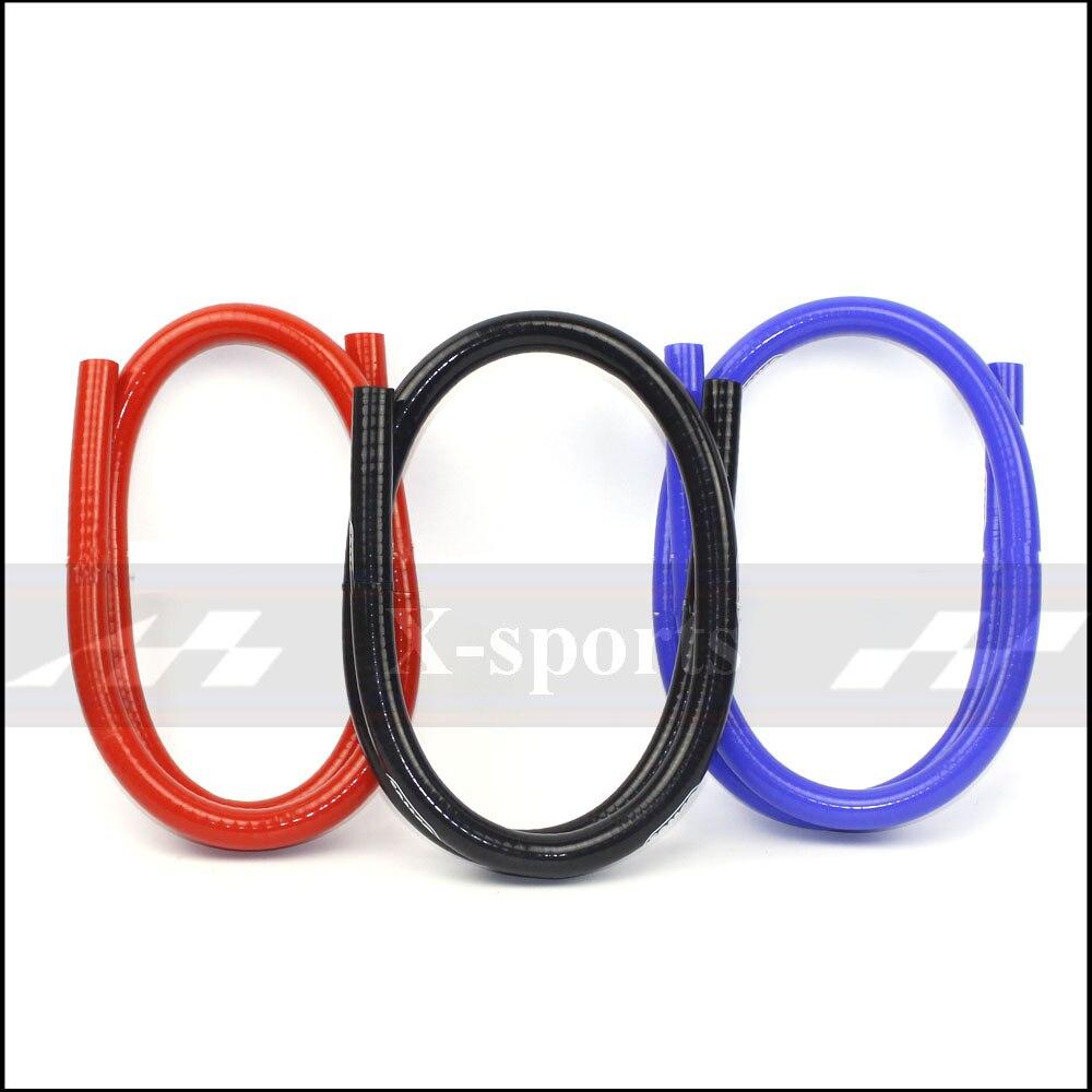 ID 6,5 мм система охлаждения Радиатор промежуточного охладителя силиконовый шланг плетеная трубка высокое качество длина 1 метр красный/сини...