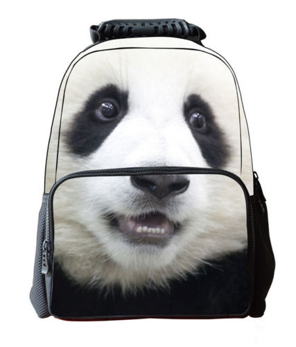 Panda animal fashion 3D 16 shoulder bag unisex Backpack mochila school bag fashion bags newPanda animal fashion 3D 16 shoulder bag unisex Backpack mochila school bag fashion bags new