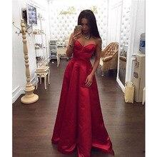 Glamorous Red Liebsten Prom Kleider 2017 Neue A-Line Spaghetti-Straps Abendkleider Einfache Design Elegante Abendgesellschaft Kleider