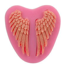 3D Angel Wings Silicone Cake Molds Soap Chocolate Mould Kitchen Baking Clay Mould Cookware Tool Fondant Decoration Mold
