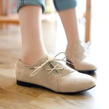 Oxford Schuhe Für Frauen Große Größe 34 43 frauen Mode Schuhe frau Wohnungen Frühling Weibliche Ballett Metall Runde Kappe Feste Beiläufige B 5