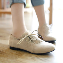 Sapatos Oxford Para As Mulheres Tamanho Grande 34 43 Sapatos Da Moda das Mulheres mulher Ballet Flats Primavera Do Sexo Feminino de Metal Dedo Do Pé Redondo Ocasional Sólida B 5