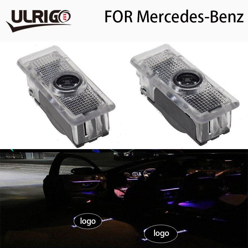 2 pièces De Voiture Porte Lumiere Pour Mercedes AMG Logo CLA-Classe CLA200 CLA220 CLA260 CLA45 LED Ombre Lumiere Bienvenue Lumiere
