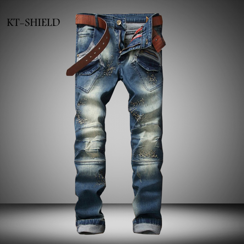 biker mens distressed ripped jeans motorcycle Slim fit homme Denim overalls famous brand hombre trousers pantalon mezclilla ripped distressed jean hombre slim fit denim overalls fashion mens biker casual hip hop long trousers calca jeans masculina