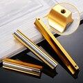 5 pcs Ouro Porta Puxadores e Maçanetas Armário Gabinete de Alumínio Punho da Mobília Do Armário Alças Puxador de Gaveta