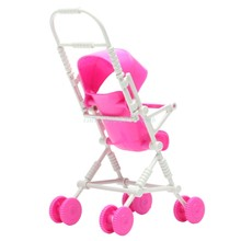 New Assembly Doll Stroller Trolley Nursery Furniture Toys Gift Pink #T026#(China)