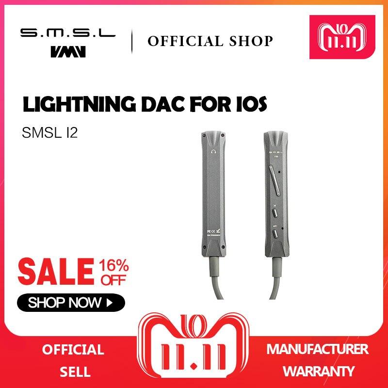 SMSL I2 Hi-Fi Mini Amplifier Portable Speaker DAC/Amp and Lightning Connector Headphone Amplifier Built-in Microphone for IOS portable hi fi mini speaker w 3 5mm plug blue